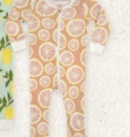 milkbarn grapefruit zip pjs
