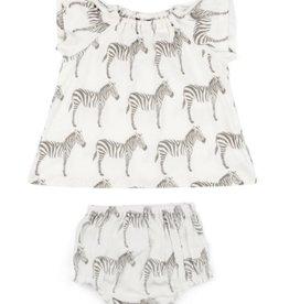 milkbarn grey zebra dress set