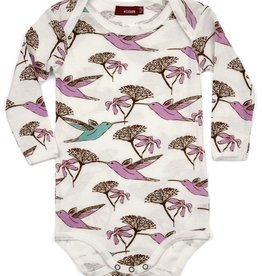 milkbarn lone sleeve one piece - humingbird