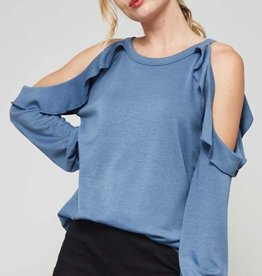 promesa abigail cold shoulder top