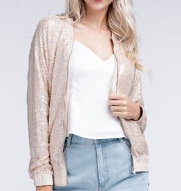 honey punch sparkle bomber jacket