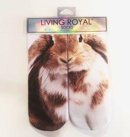 living royal bunny ankle socks