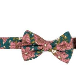 milkbarn teal floral bow tie