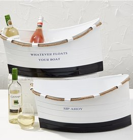 two's company sip ahoy galvanized boat bucket
