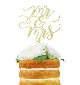 alexis mattox design flourish couple mr & mrs cake topper