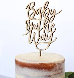 alexis mattox design baby on the way cake topper