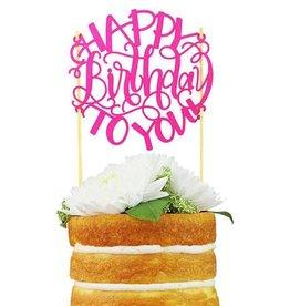 alexis mattox design happy birthday to you paper cake topper