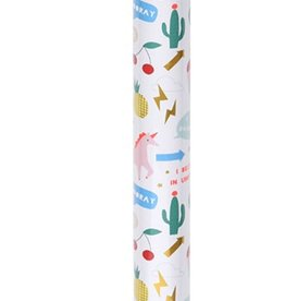 meri meri unicorn icons wrapping paper (s/3)