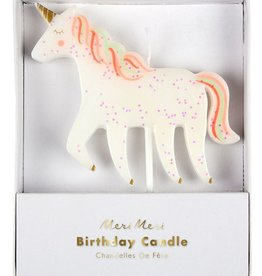 meri meri unicorn candle