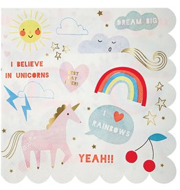 meri meri unicorn napkins (set of 20)