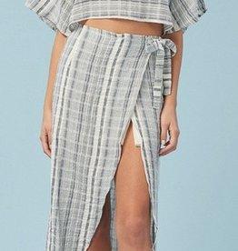 boho crop top and wrap skirt