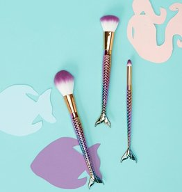 two's company mermaid set of 3 make up brushes in gift box