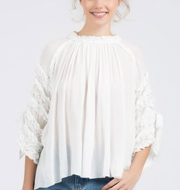 high low gauze top