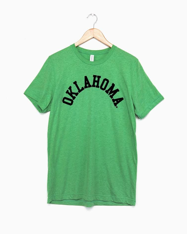 LivyLu green oklahoma flocked tee