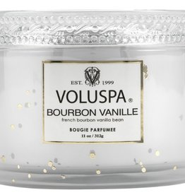 voluspa bourbon vanille 11oz corta maison glass candle with lid boxed