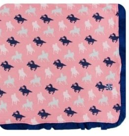 kickee pants strawberry cowgirl print ruffle toddler blanket