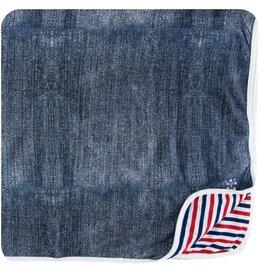 kickee pants denim print toddler blanket