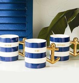 two's company golden anchor mug