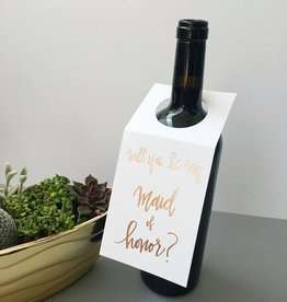 chez gagne maid of honor wine tag