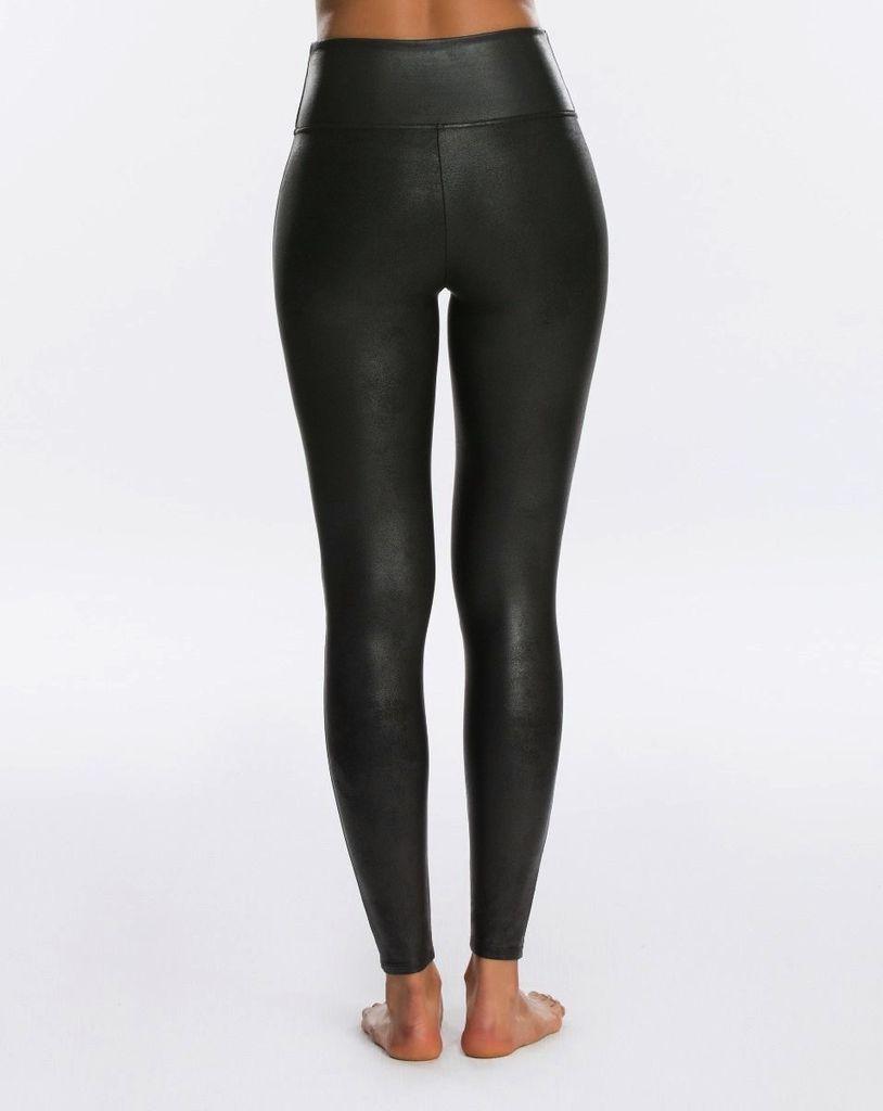 spanx spanx black faux leather leggings
