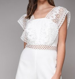 do + be white crochet romper