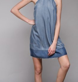 chambray halter dress