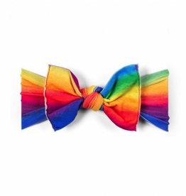Baby Bling PRINTED KNOT: watercolor rainbow