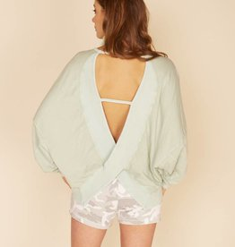 vintage havana sage criss cross back top