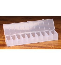 Hareline Hareline 10 Compartment Ribbed Hook Box