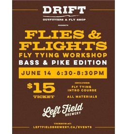 Flies & Flights - Bass & Pike Edition - Fly Tying Night