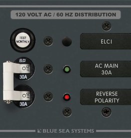 Blue Sea BLUE SEA PANEL 120V ELCI MAIN 30A  	8100