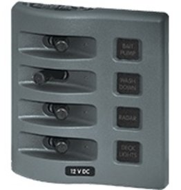 Blue Sea BLUE SEA PANEL WD GR12V 4POS SWITCH ONLY 4305