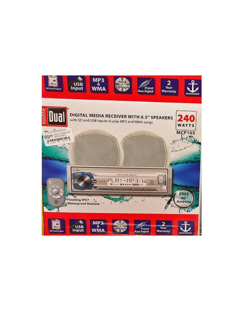 DUAL Dual digital media receiver with 2 speakers  MCP105