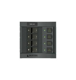 Blue Sea PANEL 360 120VAC 4BREAKER 1210