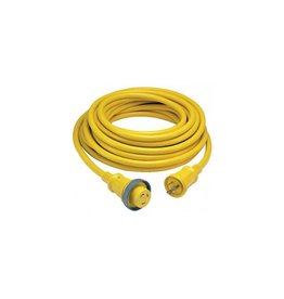 Hubbell CORDSET 30AMP 50' YEL W/LED