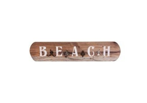 Vintage Beach Sign With Hooks