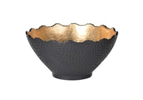 Black and Gold Bowl Large