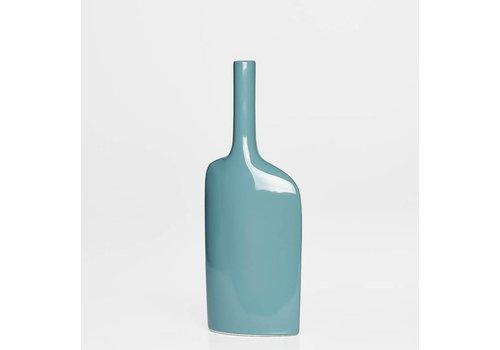 Alba Long Neck Short Vase - Teal