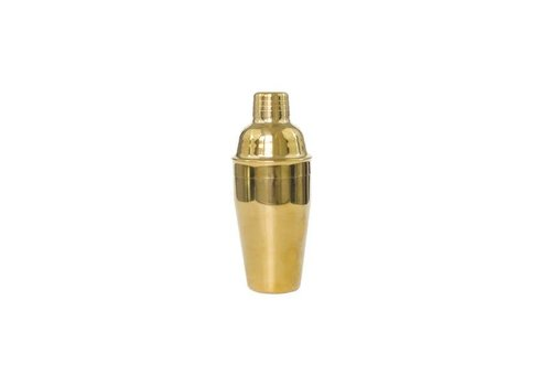 Polished Brass Cocktail Shaker - Large