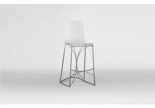 Angela Counter Stool - Silver
