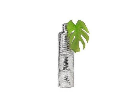 "Helio Hammered Ceramic 15.5"" Tower Bottle Vase"