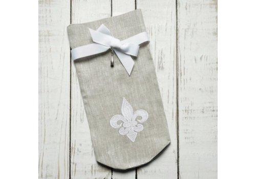 Fleur de Lis Wine Bag