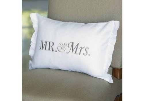Mr. & Mrs. Pillow 12 x 18