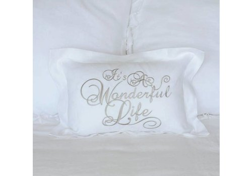 It's a Wonderful Life Pillow 12 x 18