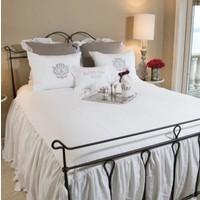 Linen Bedspread With Ruffle King Red Door Home Living