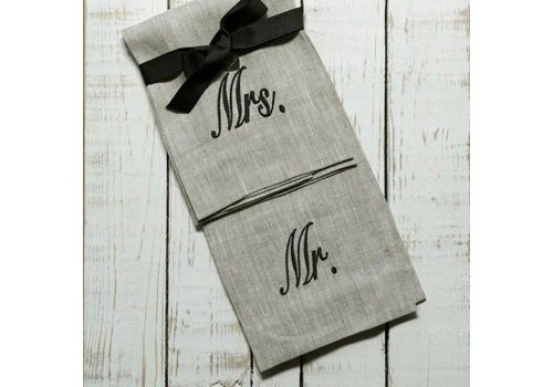 Mr. and Mrs. Linen Towel Set