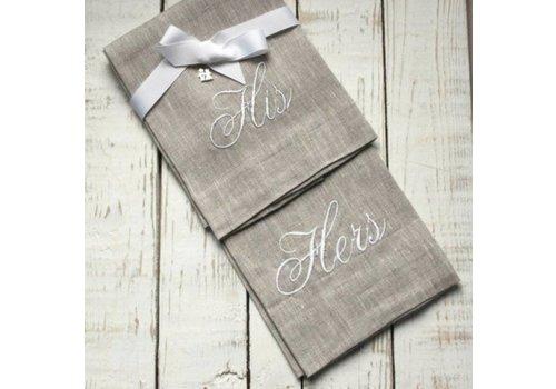 His & Hers Linen Towel Set
