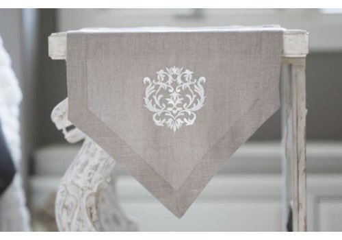 Damask Linen Table Runner