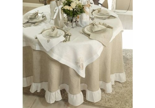 """Two Tone 90"""" Tablecloth"""