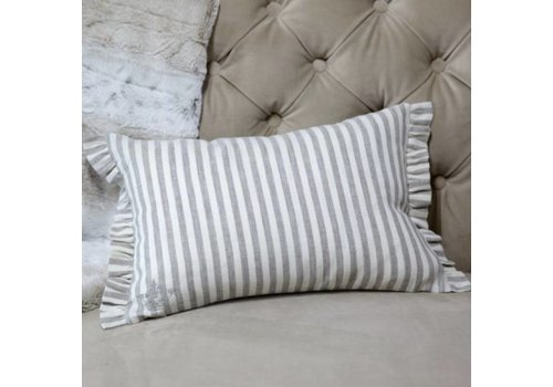 Stripe Linen Decor Pillow 12 x 18